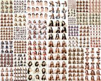 國外女人表情頭像攝影高清圖片