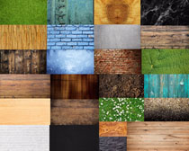叶子墙壁木板背景摄影高清图片