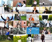 戶外職場女性拍攝高清圖片