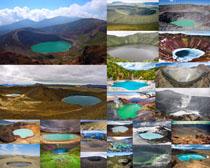风景天然陨石坑摄影高清图片