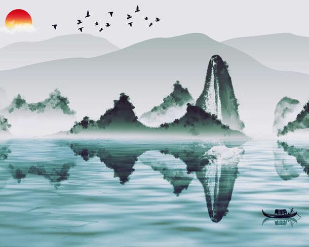 山水风画PSD素材