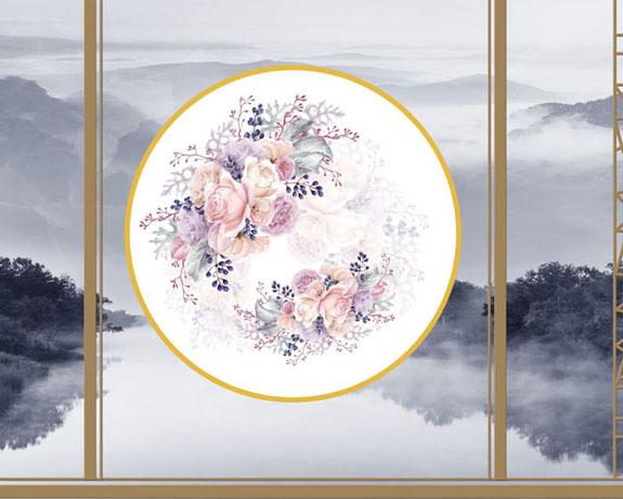 风景中国花背景PSD素材