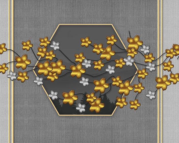 梅花背景墙PSD素材