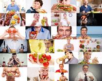 吃东西的国外人物摄影高清图片