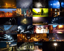 城市夜景展示拍摄高清图片
