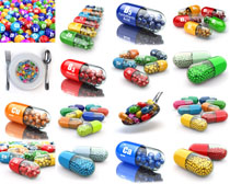 3D药丸展示摄影高清图片