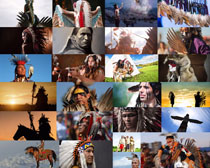 印第安人物摄影高清图片