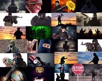 恐怖份子人物摄影高清图片