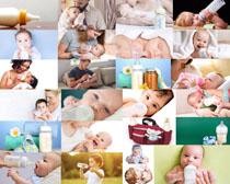 喝奶的宝宝摄影高清图片