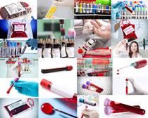化验血瓶摄影高清图片