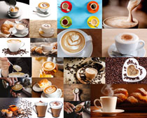爱心咖啡杯摄影高清图片