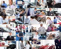 购买汽车接待人员摄影高清图片
