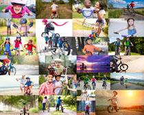 学骑自行车的小孩摄影高清图片