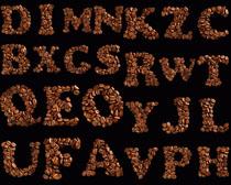 咖啡字母组合摄影高清图片