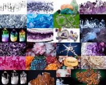 彩色石头晶体摄影高清图片