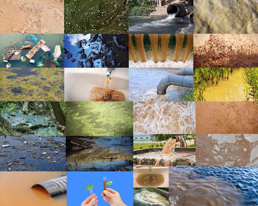 污水环境摄影高清图片