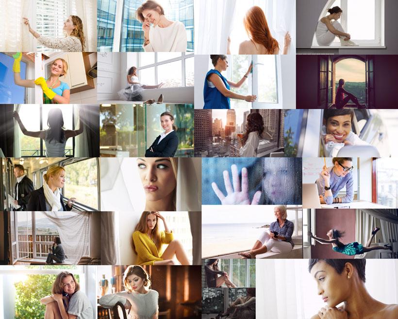 歐美生活女子攝影高清圖片