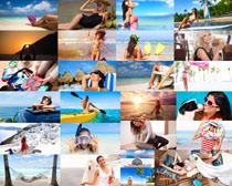 海边性感游泳美女摄影高清图片