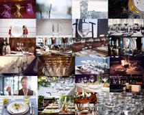 餐厅酒杯摄影高清图片
