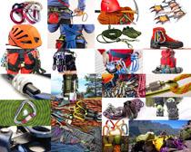登山绳子摄影高清图片
