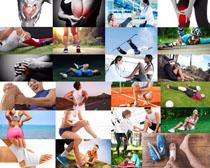 运动受伤人物摄影高清图片
