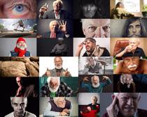 疯狂的老人摄影高清图片