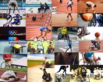 残疾人运动会摄影高清图片