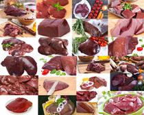 猪肝食材摄影高清图片