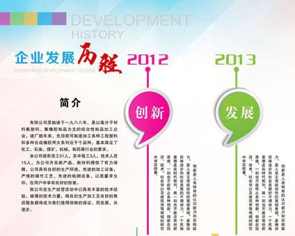 企业发展历程PSD素材