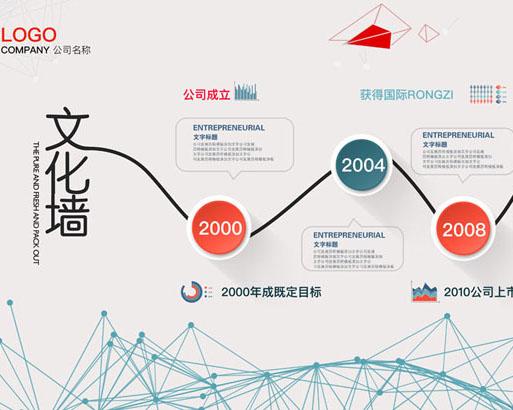 公司文化墙PSD模板