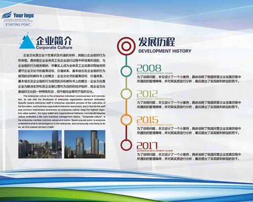 企业理念文化墙PSD模板
