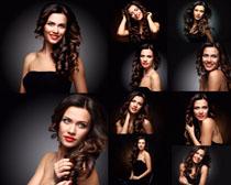 卷發時尚歐美美女攝影高清圖片