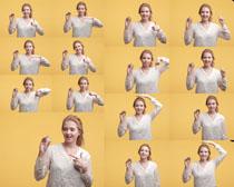 歐美女子產品展示攝影高清圖片