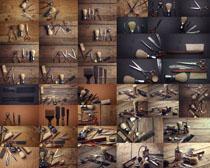 理发工具展示拍摄高清图片