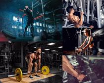 举重的男人摄影高清图片