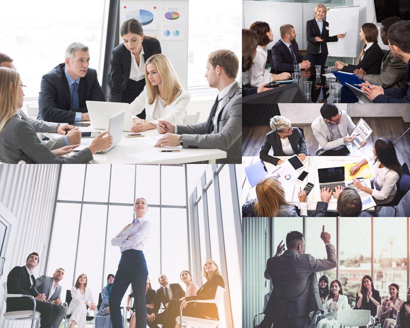 欧美商务团队人物摄影高清图片