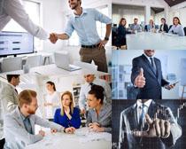 商務討論會議人士攝影高清圖片