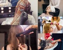 染发欧美女人摄影高清图片