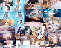 商务人士分析摄影高清图片