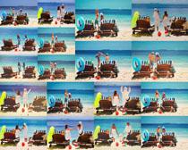 沙滩甜蜜爱情人物摄影高清图片