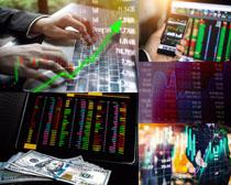 商务数据走势图摄影高清图片