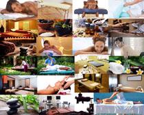 理疗SPA养生护理人物摄影高清图片