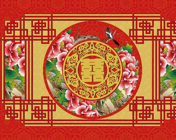 中国风喜事模板PSD素材
