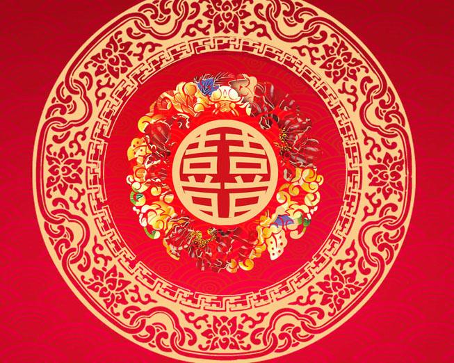 中國喜事背景模板PSD素材