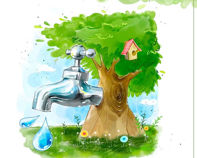 节约水资源PSD素材