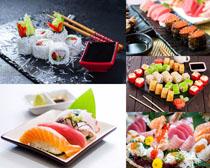 三文鱼寿司食物摄影高清图片