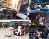汽車機械維修攝影高清圖片