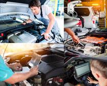 汽车修理检查摄影高清图片