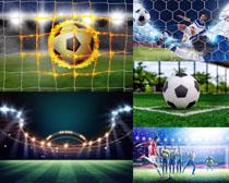 足球比賽體育攝影高清圖片