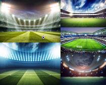 足球比賽場地拍攝高清圖片